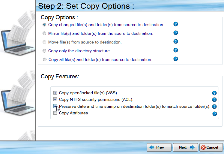 Copy NTFS Permissions and locked files